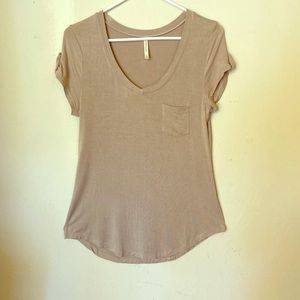 Cap sleeve rayon t-shirt stretchy DNA Couture